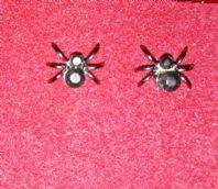 Black Crystal Spider Stud Earrings
